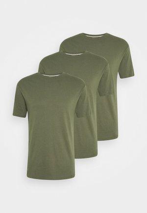 MULTI TEE AUTUMN 3 PACK - T-shirt basic - dark oliv