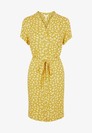 Abito a camicia - mottled yellow