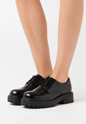 VEGAN DENISE SHOE - Nauhakengät - black