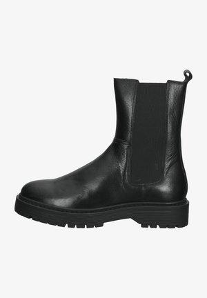 Plateaustøvletter - black leather