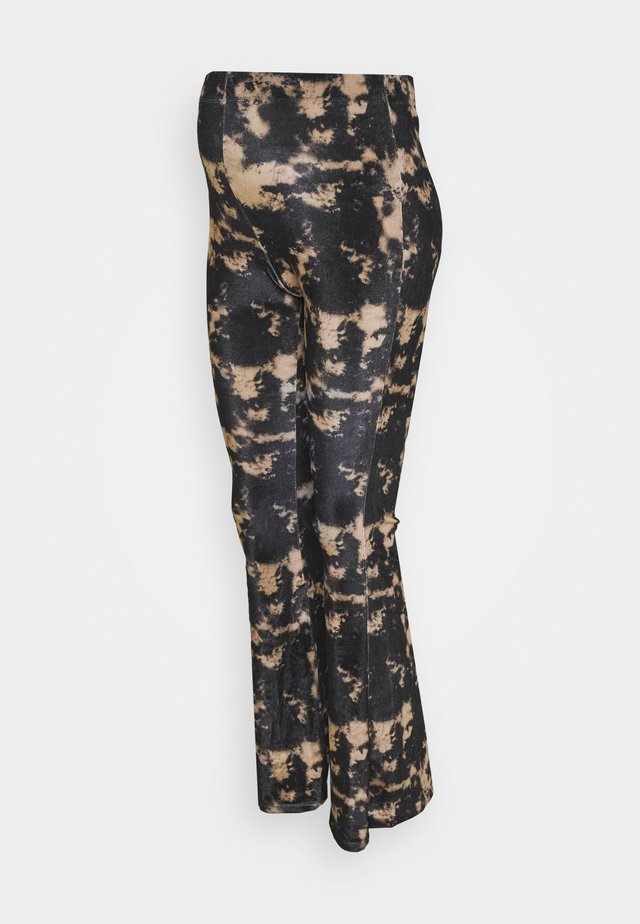 TIE DYE  - Trousers - black