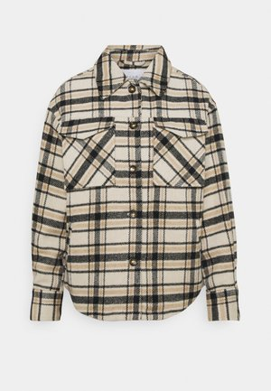 VIRUBI CHECK JACKET - Summer jacket - birch/white/black