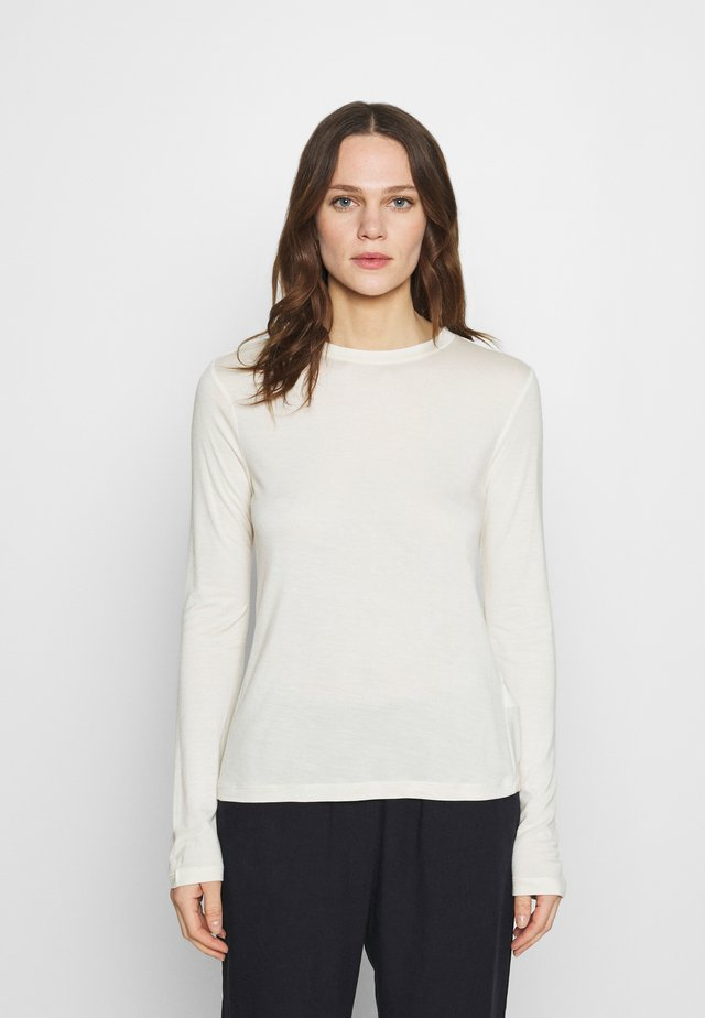 SILK BLEND Longsleeve - Long sleeved top - off-white