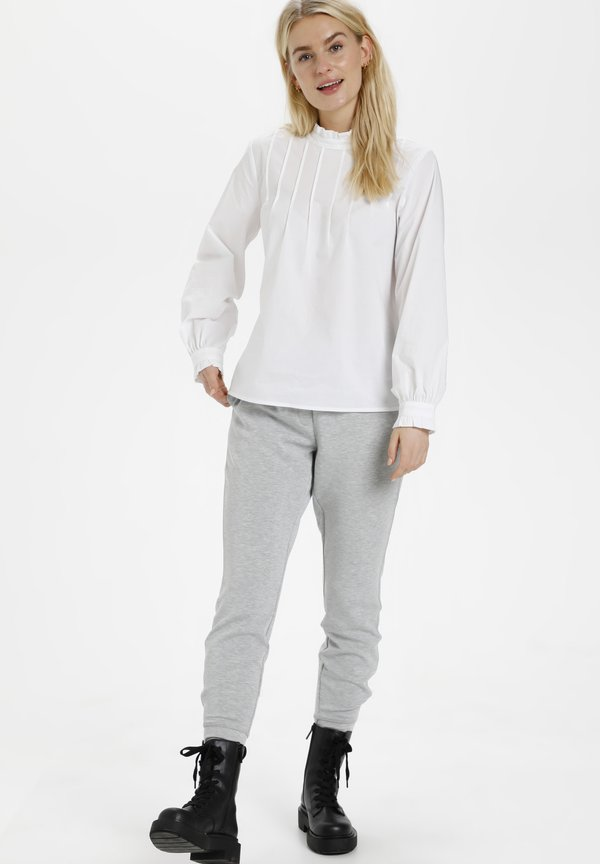 Denim Hunter DHANNE - Bluzka z długim rękawem - optical white/biały TWBV