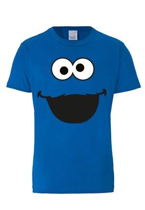 COOKIE MONSTER - Print T-shirt - blau