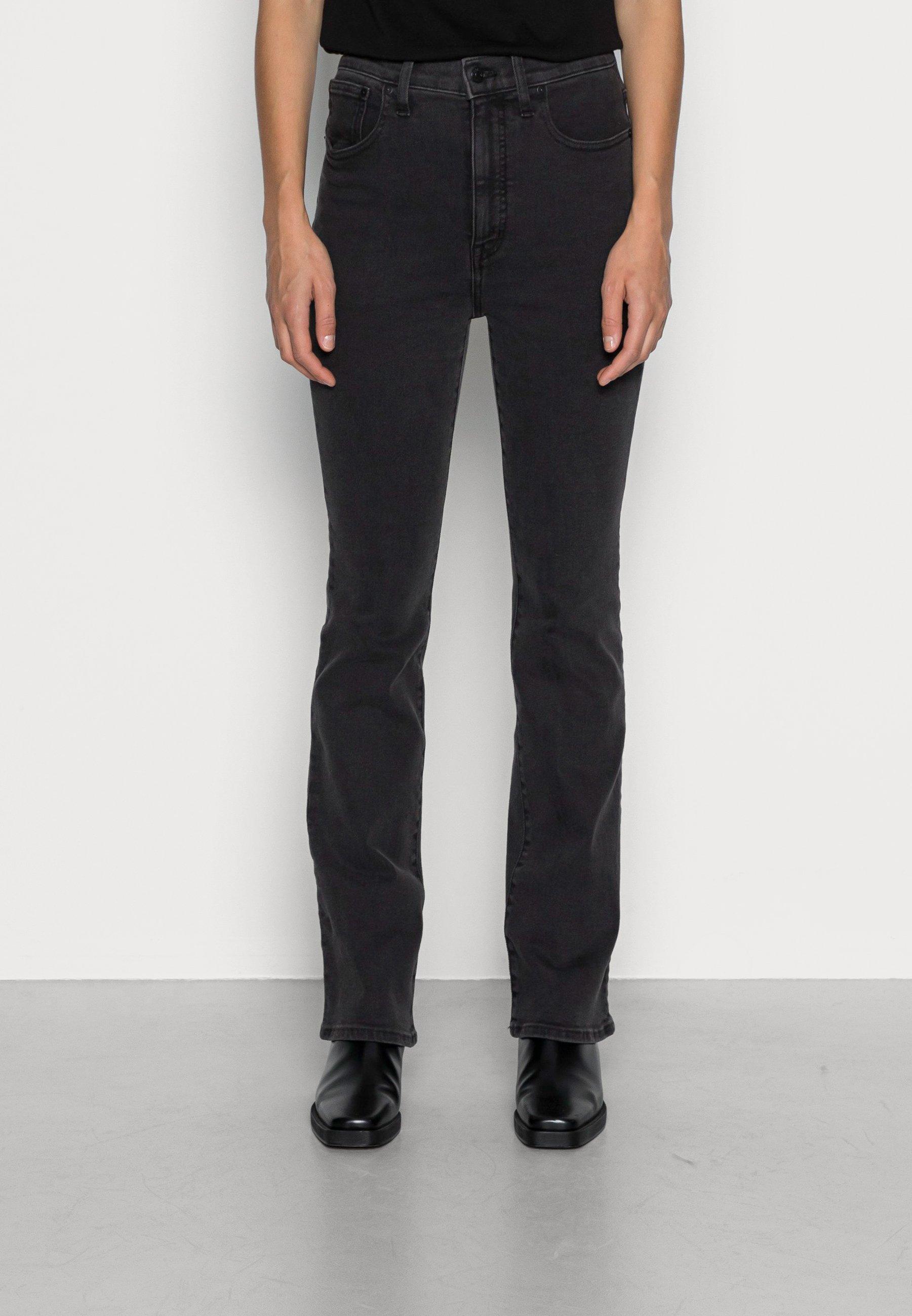 Women SKINNY FLARE BLACK - Flared Jeans