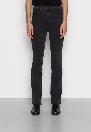 SKINNY FLARE BLACK - Flared Jeans - starkey