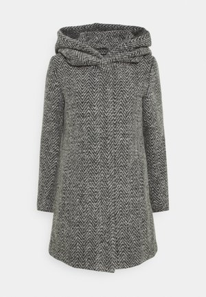ONLZIENA HOODED COAT  - Cappotto classico - black/melange