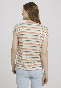 TOM TAILOR DENIM - Basic T-shirt - multicolor stripe - 2