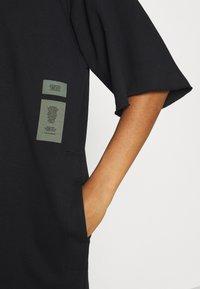 G-Star - LONG HOODED DRESS - Maxi dress - dark black - 6