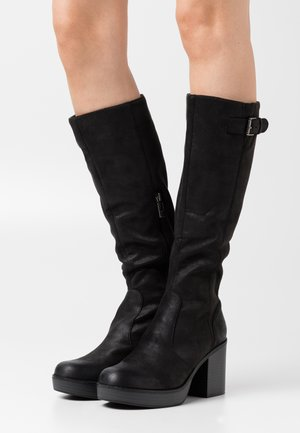 NEWSESENTA - Platåstøvler - black