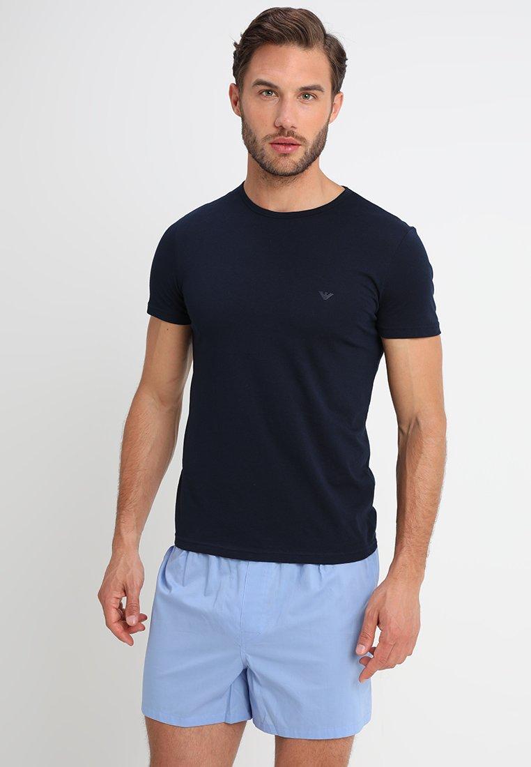 Emporio Armani - CREW NECK 2 PACK  - Undershirt - navy blue