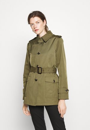 LINED - Trench - loden green