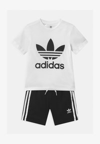 adidas Originals - TEE SET UNISEX - Shorts - white/black - 0