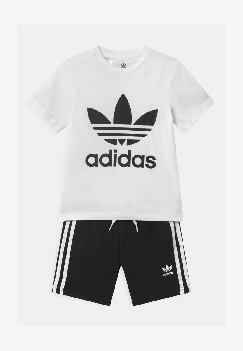 adidas Originals - TEE SET UNISEX - Shorts - white/black