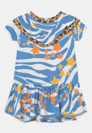 AQUA ZEBRA FRILL DRESS - Jersey dress - blue