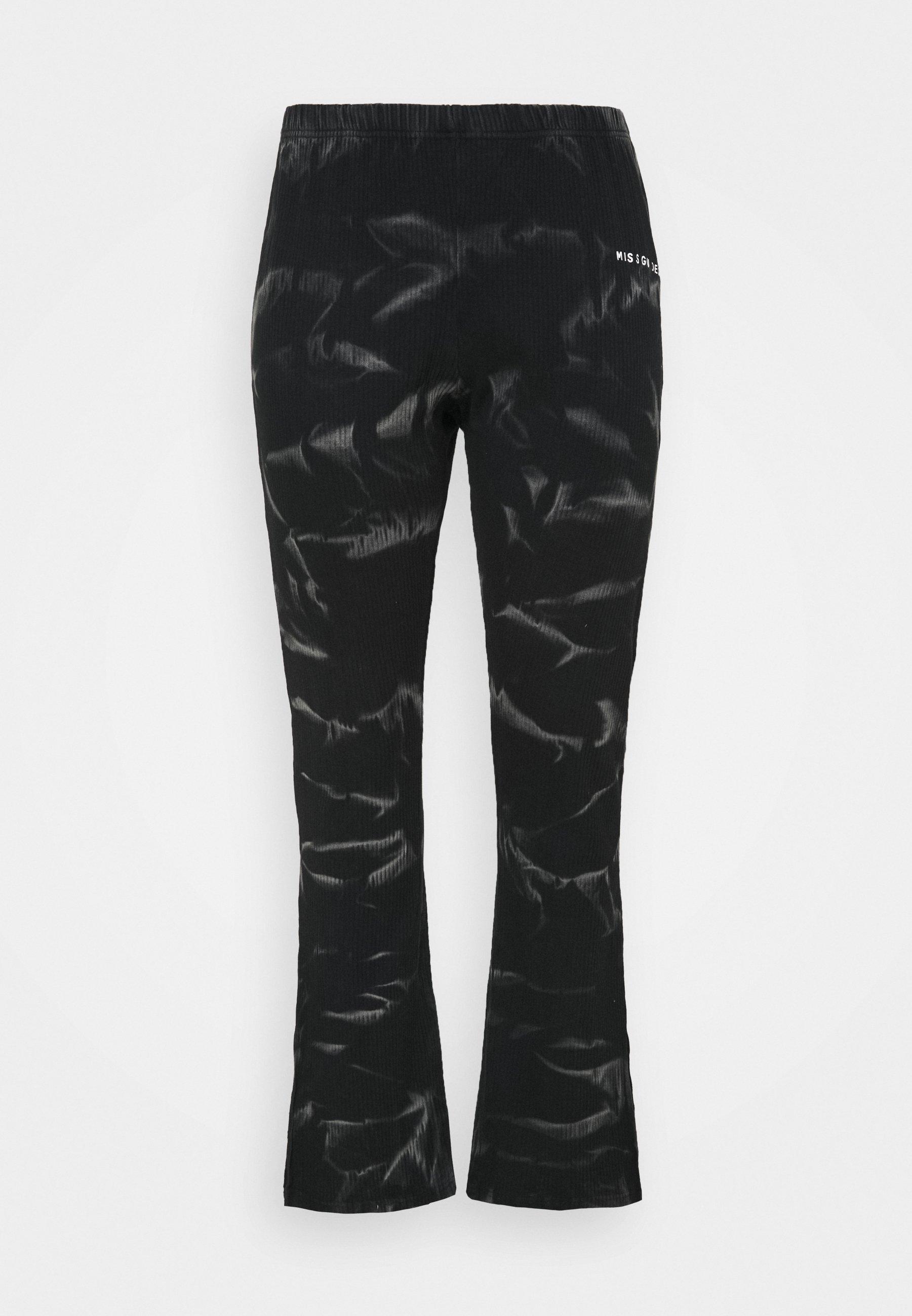 Femme PLUS JOGGERS SPLIT TIE DYE - Pantalon classique