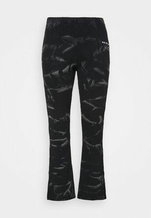 PLUS JOGGERS SPLIT TIE DYE - Trousers - black