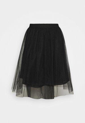 ONLGLAMMIE OVERKNEE SKIRT - A-line skirt - black