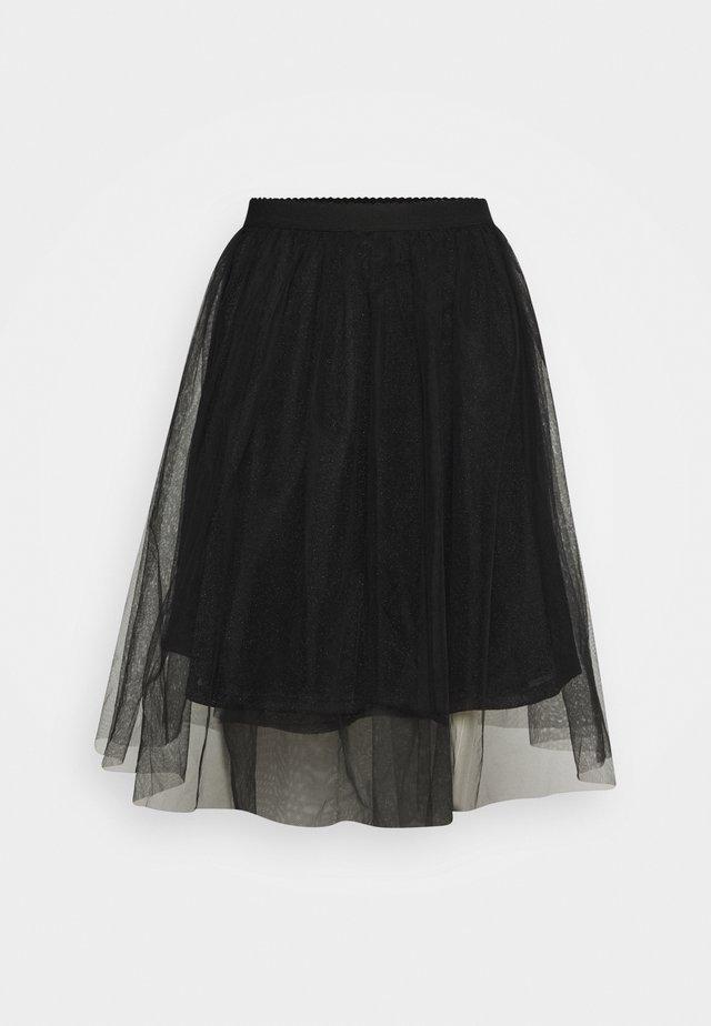 ONLGLAMMIE OVERKNEE SKIRT - A-snit nederdel/ A-formede nederdele - black