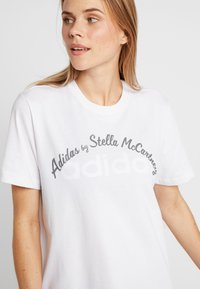 adidas by Stella McCartney - LOGO TEE - Print T-shirt - white - 3