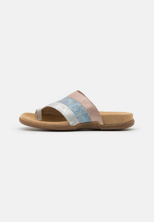 T-bar sandals - fog/silver/heaven/rose