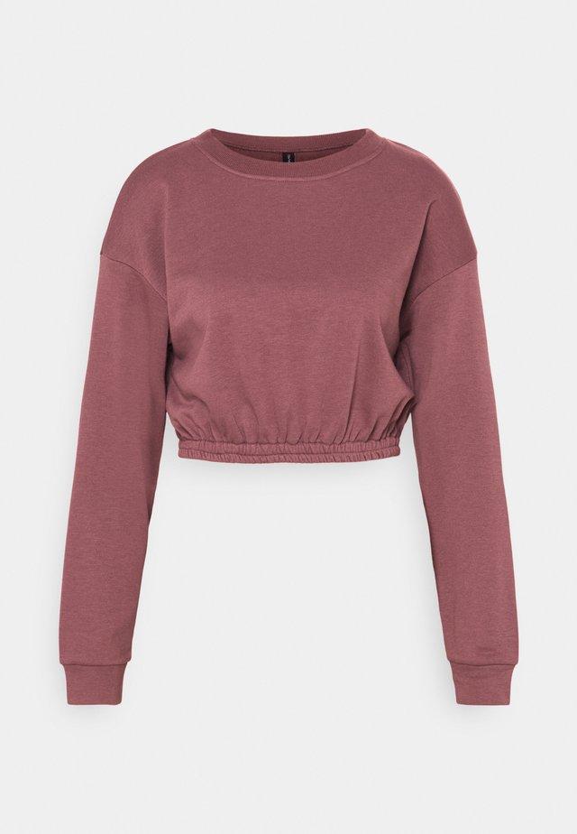 OVERSIZED CROP - Sweatshirt - rose brown