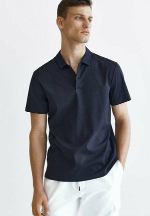 Poloshirt - blue-black denim