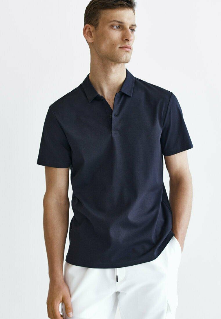Massimo Dutti - Polo shirt - blue-black denim