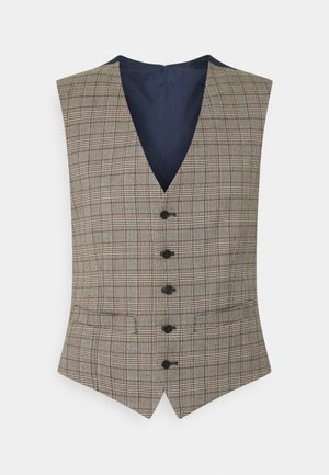 HERITAGE CHECK VEST - Waistcoat - brown