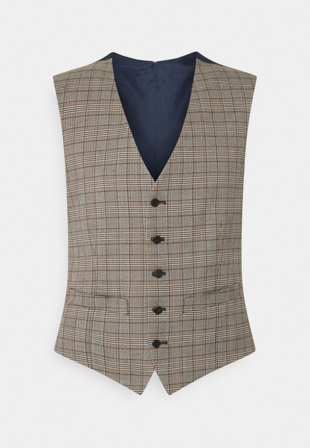 HERITAGE CHECK VEST - Väst - brown