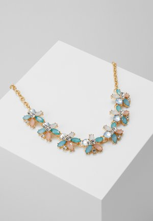 PCGLORIA STONE NECKLACE - Smykke - gold coloured/clear/blue/rose