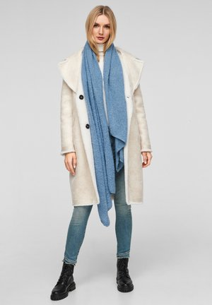 Scarf - light blue knit