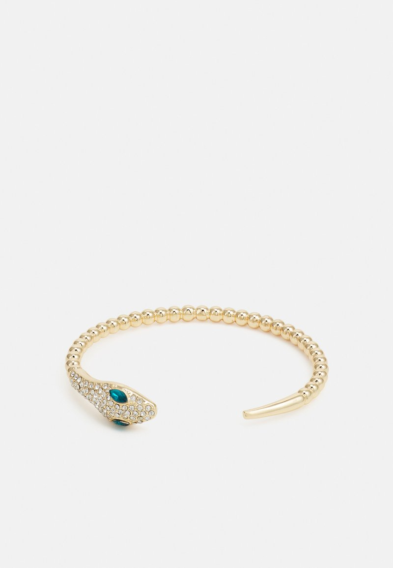 Pieces - PCLAI BRACELET - Bracelet - gold-coloured/clear/green