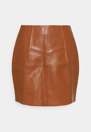 PANEL DETAIL MINI SKIRT - Mini skirt - tan