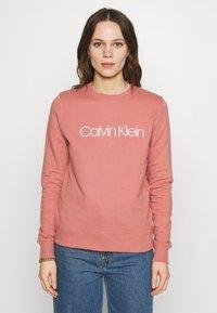Calvin Klein - CORE LOGO - Felpa - muted pink - 0