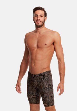 Swimming trunks - leather skin