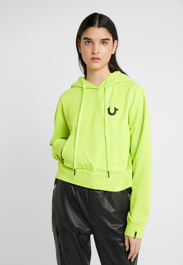 EXCLUSIVE HOODY CROP - Sweat à capuche - acid lime