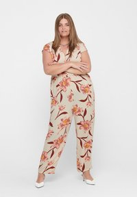 ONLY Carmakoma - CURVY - Jumpsuit - oatmeal - 1