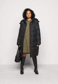 MY TRUE ME TOM TAILOR - LONG JACKET - Winter coat - deep black - 1