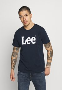 Lee - WOOBLY  TEE - T-shirt con stampa - navy drop - 0