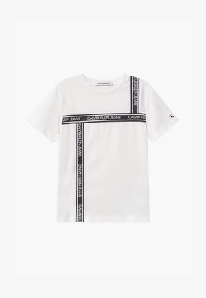 LOGO TAPE  - Print T-shirt - white