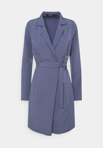 BASIC WRAP BLAZER DRESS - Day dress - blue