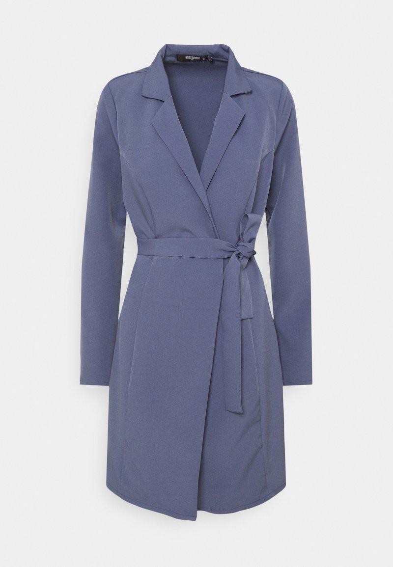 Missguided Tall - BASIC WRAP BLAZER DRESS - Day dress - blue
