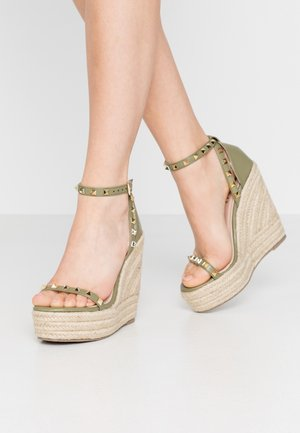 KORI - High heeled sandals - sage green