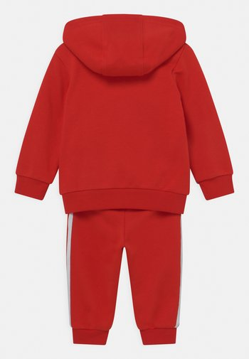 HOODIE SET UNISEX - Tracksuit - red/white