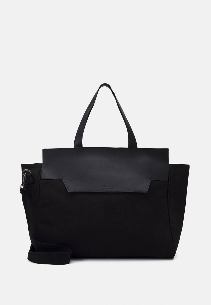 Zign - UNISEX LEATHER - Weekend bag - black