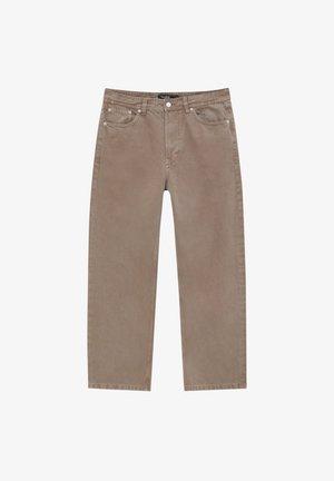 Straight leg -farkut - mottled light brown