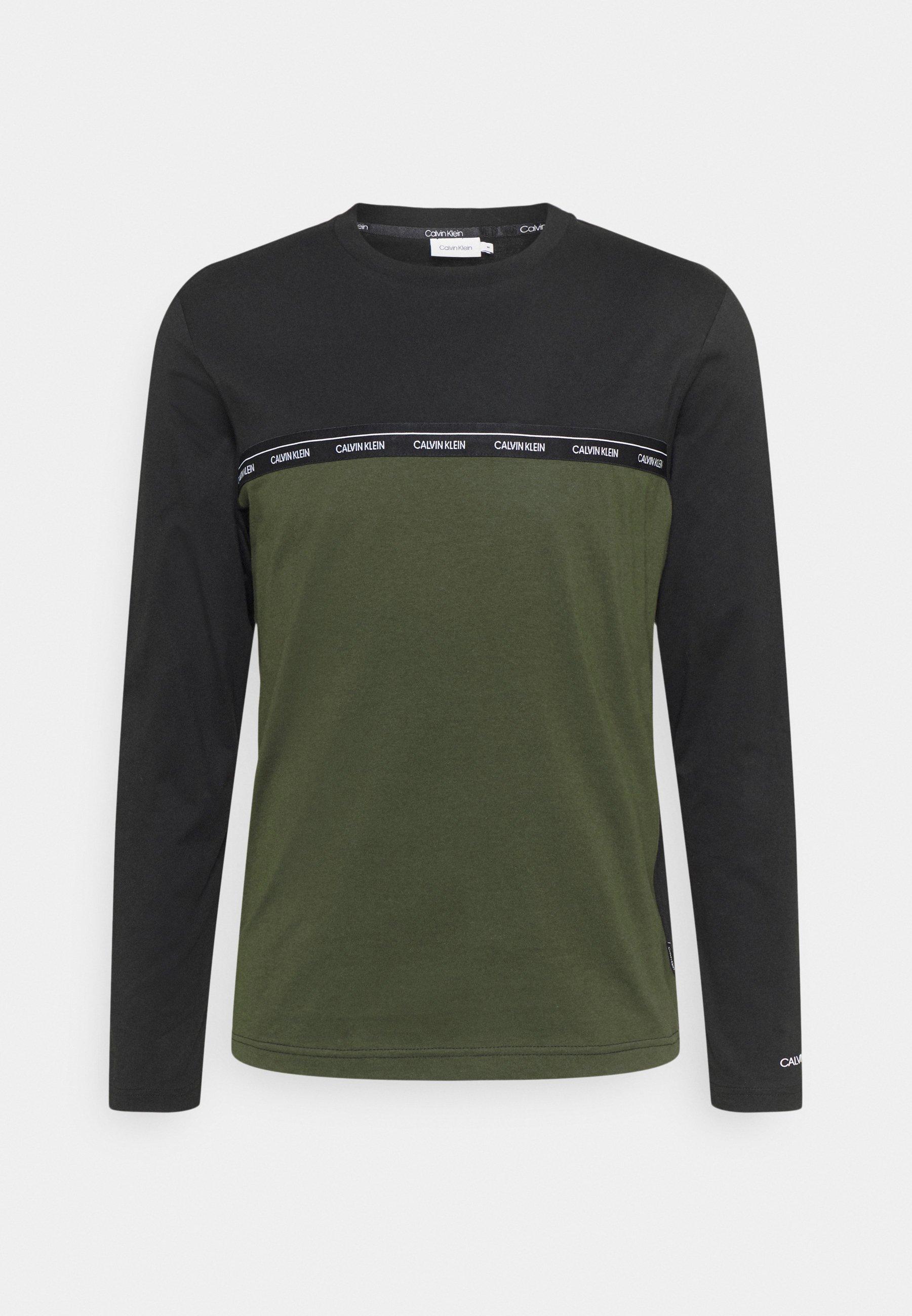 Men LOGO STRIPE LONG SLEEVE - Long sleeved top