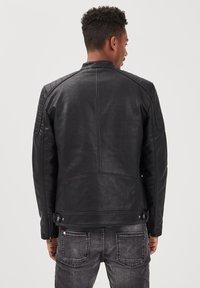 BONOBO Jeans - Imitatieleren jas - noir - 2